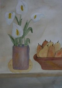 Pears_and_Calla_Lilies