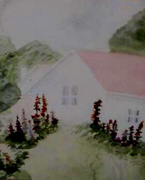 House_with_Hollyhocks_SFleck